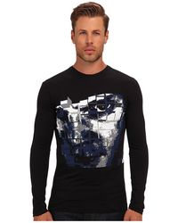 Costume National Ls Graphic Tee - Lyst