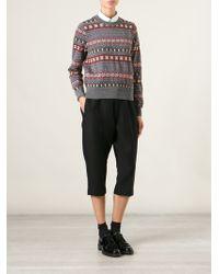 Comme Des Garçons Geometric Pattern Sweater - Lyst