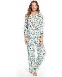 Lauren by Ralph Lauren Bridle-Print Cotton Pajama Set - Lyst