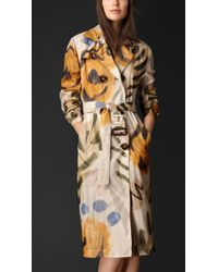 Burberry Handpainted Organdy Trench Coat - Lyst