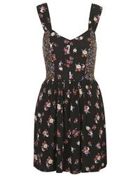 Topshop Floral Print Sundress By Band Of Gypsies - Lyst