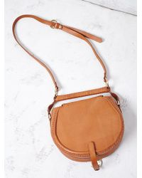 Free People | Sancia Womens Babylon Suede Saddle Bag | Lyst