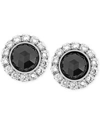 Swarovski Palladium-plated Crystal Jet Pierced Earrings - Lyst