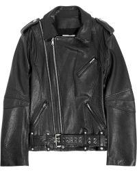 Pierre Balmain Texturedleather Biker Jacket - Lyst