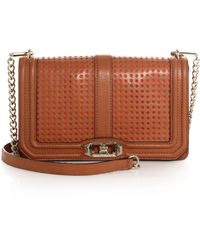 Rebecca Minkoff Love Perforated Crossbody Bag - Lyst