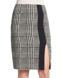 Etro Houndstooth Tweed Pencil Skirt - Lyst