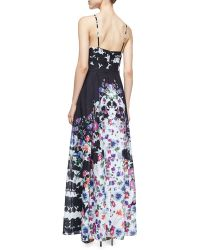Phoebe - Floral-Print Pleated Gown - Lyst