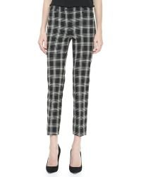 Michael Kors Taos Plaid Samantha Skinny Pants - Lyst