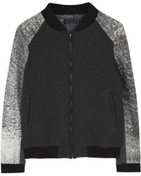 Francis Leon - Outsiders Leather Trimmed Bomber Jacket - Lyst