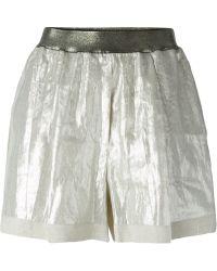 Nude - High Waist Shorts - Lyst