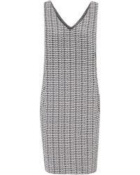 Nicole Farhi | Grey and White Printed Silk Dress | Lyst