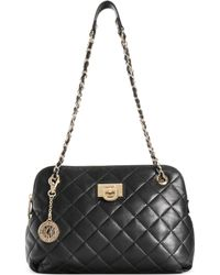 DKNY Gansevoort Quilted Round Crossbody - Lyst