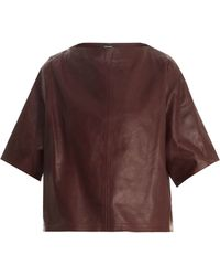Isabel Marant Feza Leather Top - Lyst