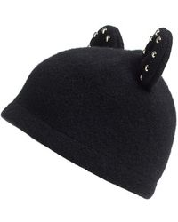 Helene Berman | Studded Ears Wool Blend Cap | Lyst