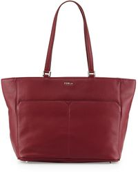 Furla Raffaela Medium Leather Tote Bag - Lyst