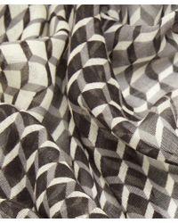 Pierre Hardy - Black Cube Print Cashmere-blend Scarf - Lyst