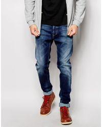 Diesel Jeans Tepphar 839H Slim Fit Mid Wash - Lyst