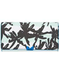 KENZO - Green Palm Print Envelope Wallet - Lyst