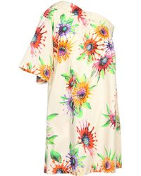 MSGM Beige Short Dress - Lyst