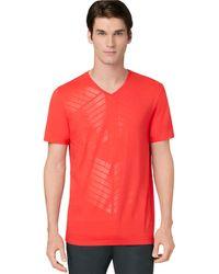 Calvin Klein Clear Foil Graphic T Shirt - Lyst
