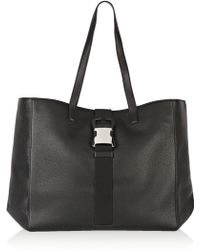 Christopher Kane - Safety Buckle Textured-leather Tote - Lyst
