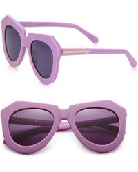 Karen Walker One Worship Plastic Round Sunglasses - Lyst
