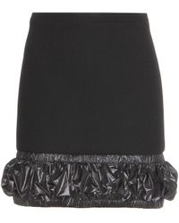 Christopher Kane Wool-Crepe Skirt With Textured Trim - Lyst