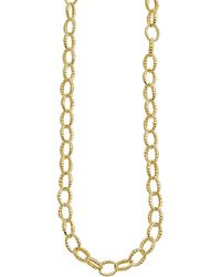 Lagos 18k Oval Fluted Link Necklace - Lyst