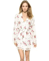 Wildfox Lover'S Bouquet Lace Dressing Robe - Lover'S Bouquet - Lyst