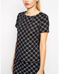 Oasis Polka Dot Top - Lyst