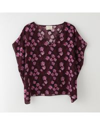 Band Of Outsiders Cherry Blossom Boxy Top - Lyst