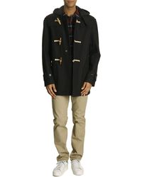 Gloverall Mid-Length Navy Duffle Coat - Lyst