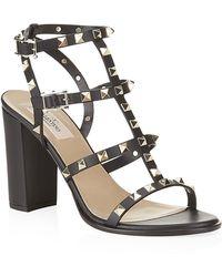 Valentino Rockstud 90 Leather Sandal - Lyst