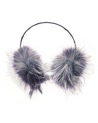 Adrienne Landau - Fox Ear Muffs - Lyst