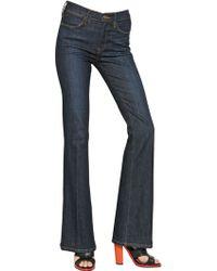 Frame Denim High Waist Flared Stretch Denim Jeans - Lyst