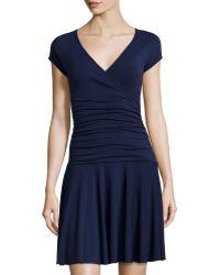 Anatomie - Monika Short-sleeve V-neck Dress - Lyst