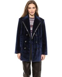 Alexander Wang Double Breasted Pea Coat Galaxy - Lyst