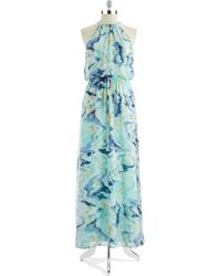 Vince Camuto Floral Necklace Gown - Lyst