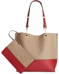 Calvin Klein   Signature Reversible Tote With Pouch   Lyst