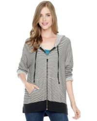 Splendid French Terry Boxy Hoodie - Lyst