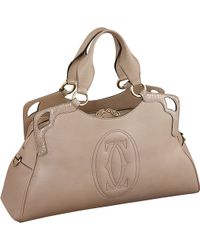 Cartier Marcello De Worldwide Calfskin Tote - Lyst