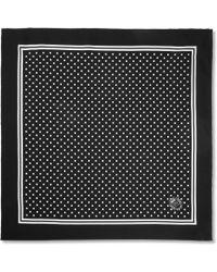 Dolce & Gabbana Printed Silk Pocket Square - Lyst