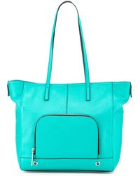 Milly Astor Pebbled Leather Tote Bag - Lyst