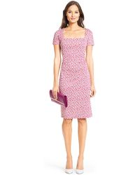 Diane von Furstenberg Dvf Stasie Silk Jersey Sheath Dress - Lyst