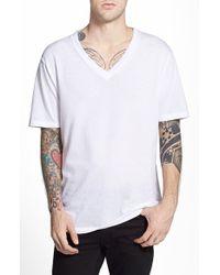 Cheap Monday 'Sloppy' Mesh V-Neck T-Shirt - Lyst