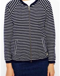 Jack Wills - Striped Bomber Jacket - Lyst