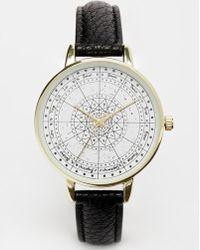 Asos Gold Zodiac Watch - Lyst