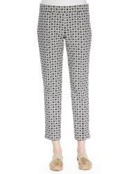 Tory Burch Callie Printed Jacquard Pants - Lyst