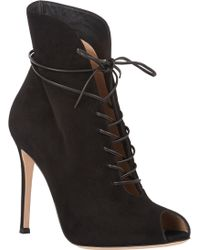 Gianvito Rossi Lace-Up Jane Boots - Lyst