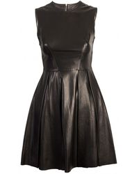Needle & Thread Needle Ampampampampamp Thread Black Leather Dress - Lyst